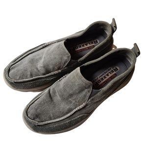 Skechers Mens Memory Foam Grey Casual Loafers US9